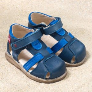 pololo-mini-sandale-playa-blau-frontal