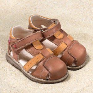 pololo-mini-sandale-playa-braun-frontal