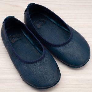 pololo-nos-barfuss-hausschuh-ballerina-ledersohle-blau-frontal