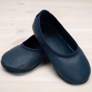 pololo-nos-barfuss-hausschuh-ballerina-ledersohle-blau-seitlich