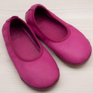 pololo-nos-barfuss-hausschuh-ballerina-ledersohle-pink-frontal
