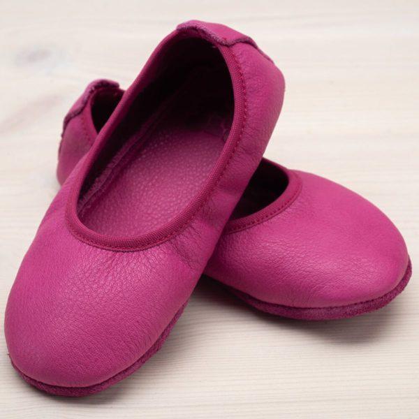 pololo-nos-barfuss-hausschuh-ballerina-ledersohle-pink-seitlich