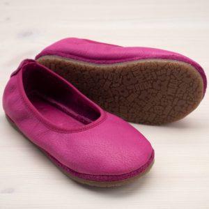 pololo-nos-barfuss-strassenschuh-ballerina-tpr-sohle-pink-seitlich