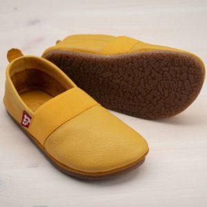 pololo-nos-barfuss-strassenschuh-elastico-tpr-sohle-gelb-seitlich